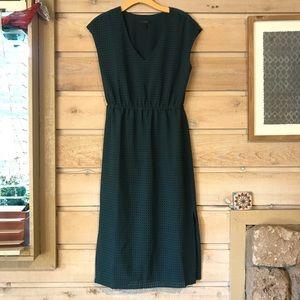 J.Crew perforated draped slit midi dress size 4